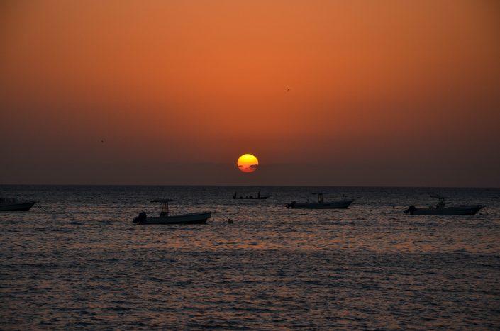 Coucher de soleil sur Saly (Sénégal)