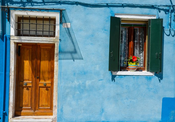 Maison colorée sur l'île de Burano (Venise)